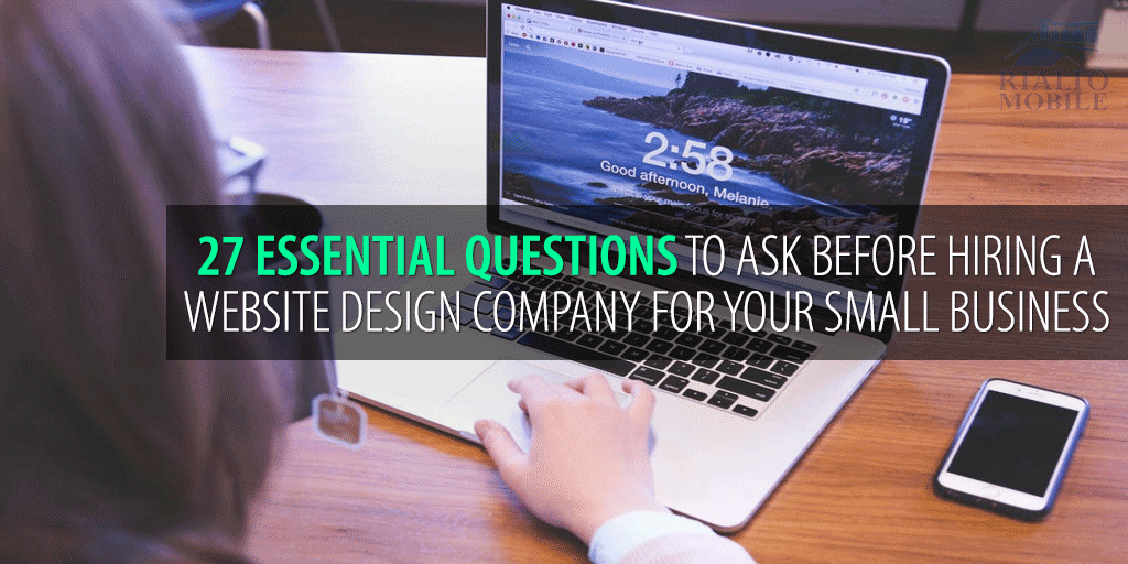 Questions to ask before hiring a website designer