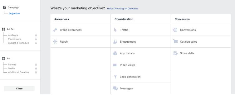 Facebook ads conversions - Set A Goal